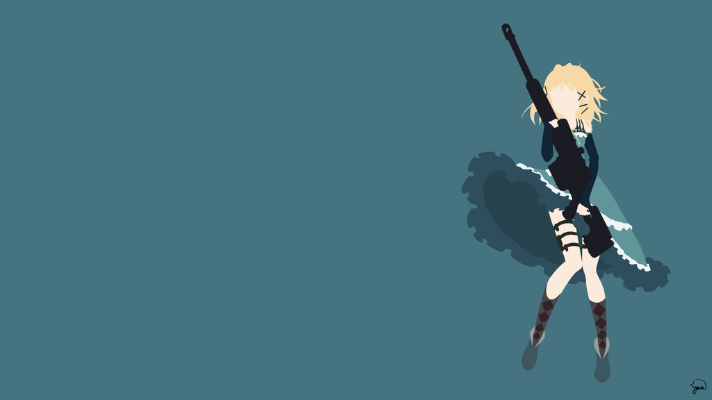 Tina Sprout Black Bullet Minimalist Wallpaper by greenmapple17 on 1024x576