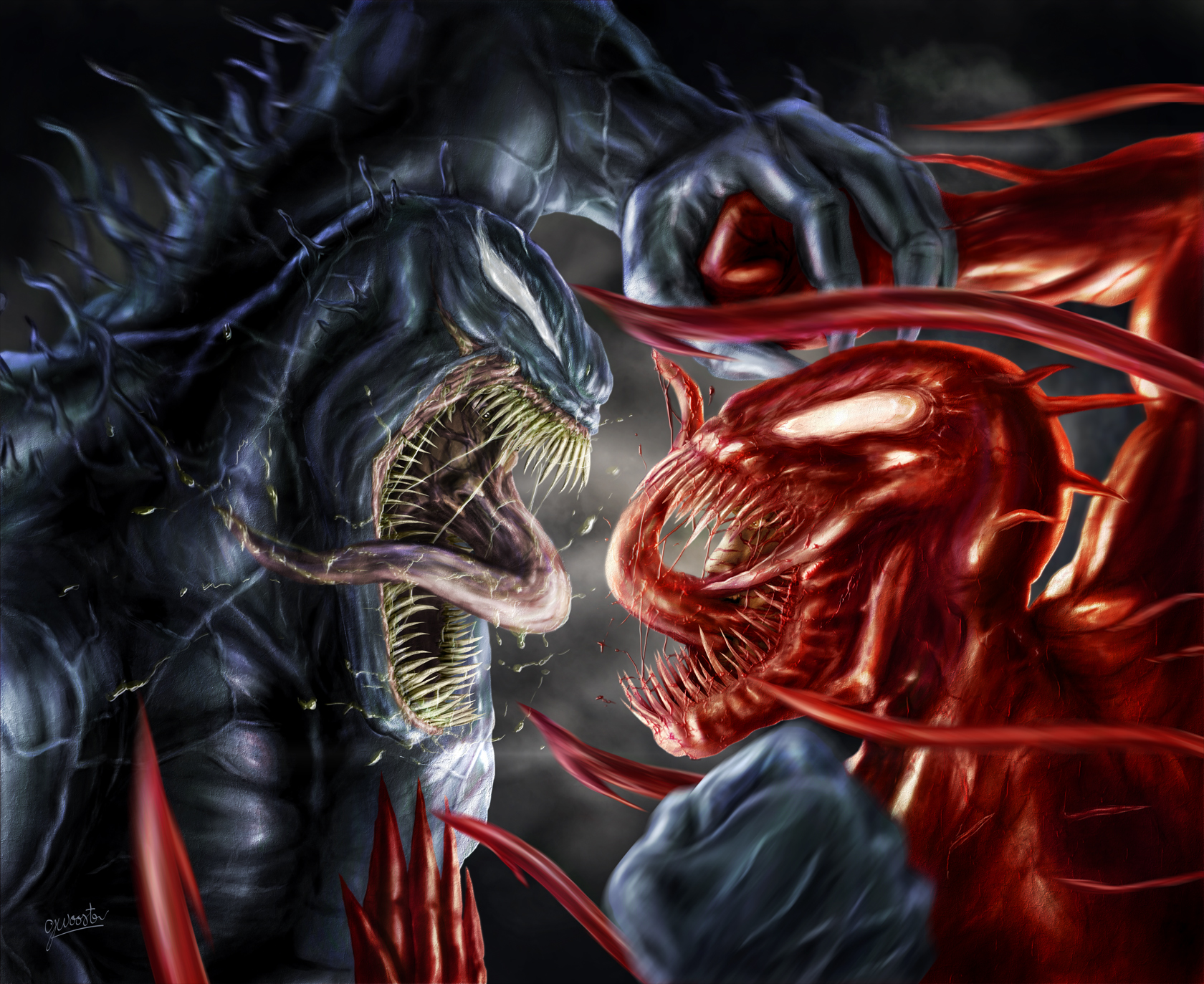 Venom Vs Carnage by DISENT 1680x1373