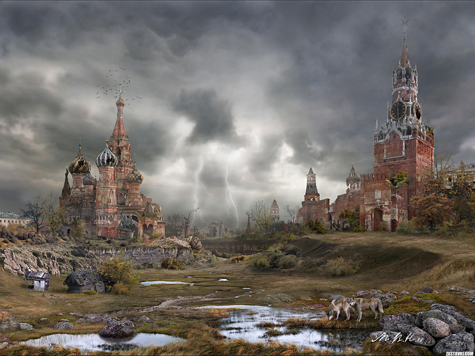 Moscow after a nuclear war Autumn wallpapers and images - wallpapers ...