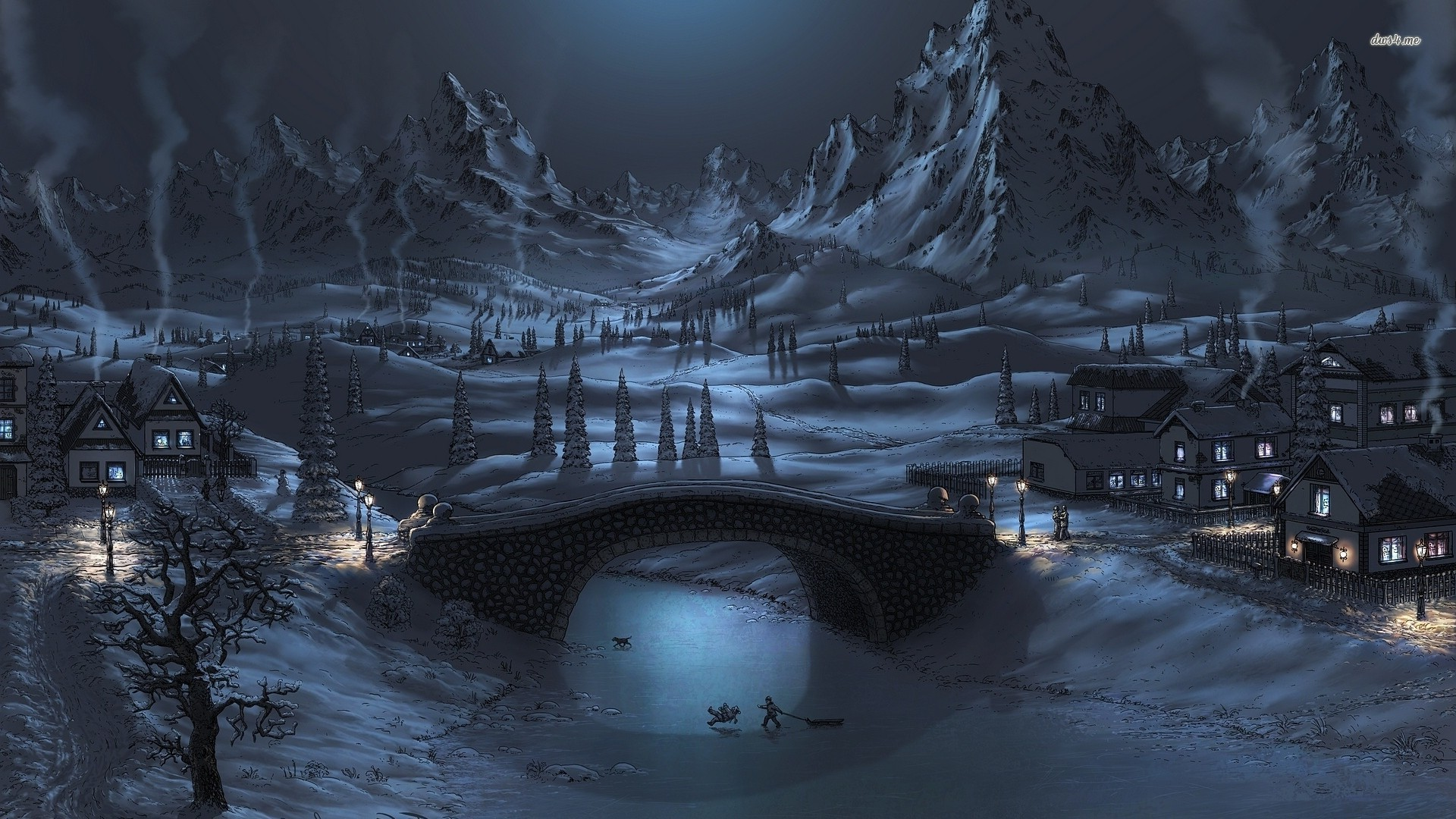 Winter Background Wallpapers WIN10 THEMES 1920x1080