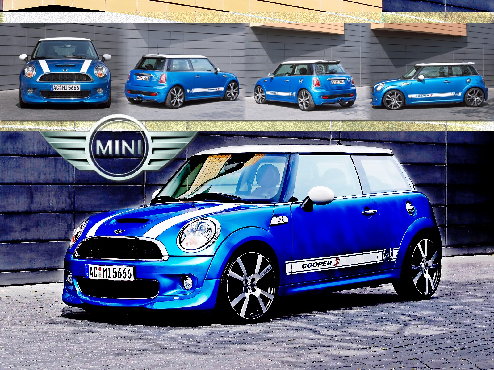 Windows wallpaper background wallpaper Mini Cooper S 1600x1200