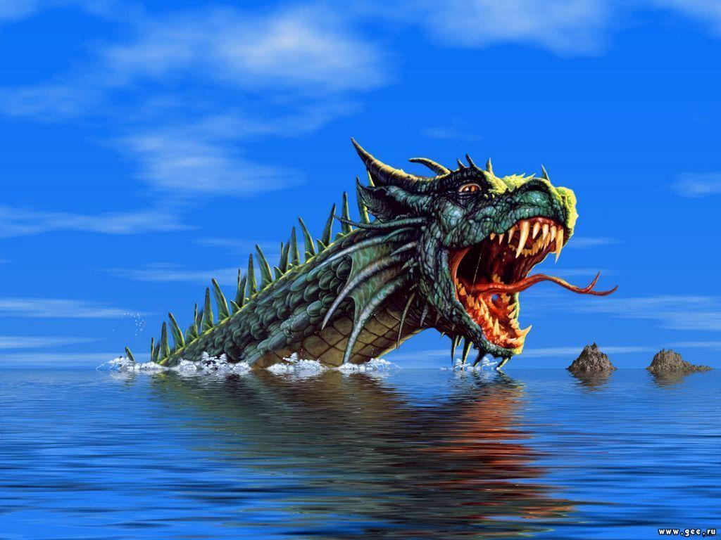 Water dragon   Dragons Wallpaper 10584145 1024x768