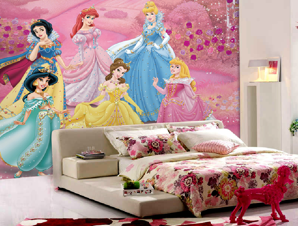 Beautiful Princess wallpaper for little girl bedroom 956x726