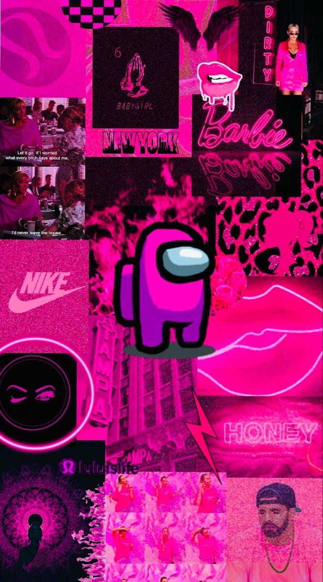 Among Us wallpaper Pink Crazy wallpaper Wallpaper iphone neon 667x1200