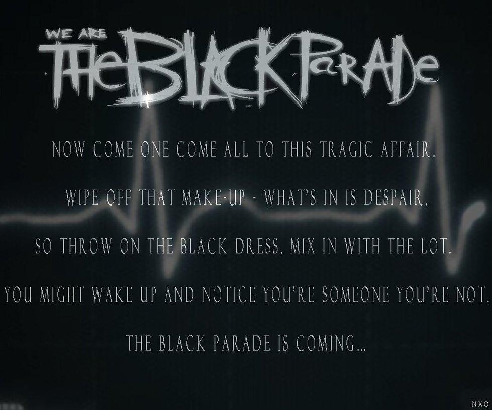 My Chemical Romance Black Parade Three Cheers For Wallpaper Tiled Desktop Source The