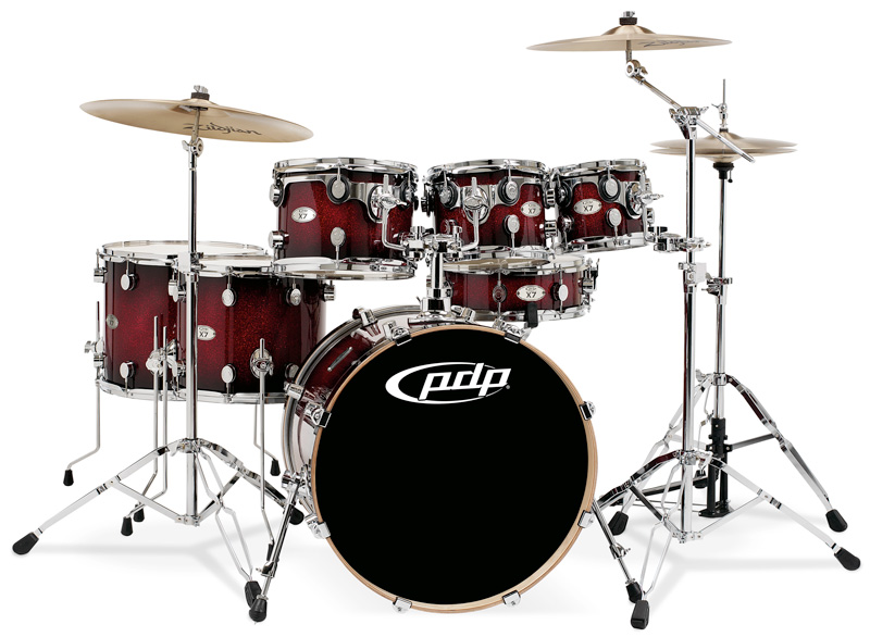 PDP Kits   Pacific Drums and Percussion X7 Series   Lacquered Red to 800x586