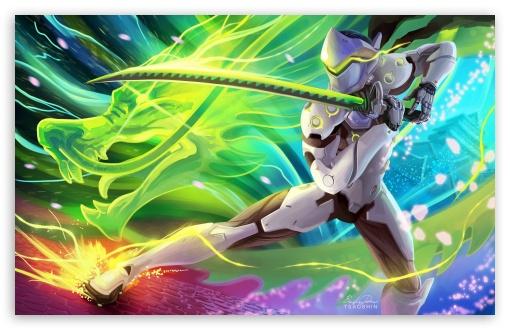 Overwatch Genji HD desktop wallpaper Widescreen High Definition 510x330