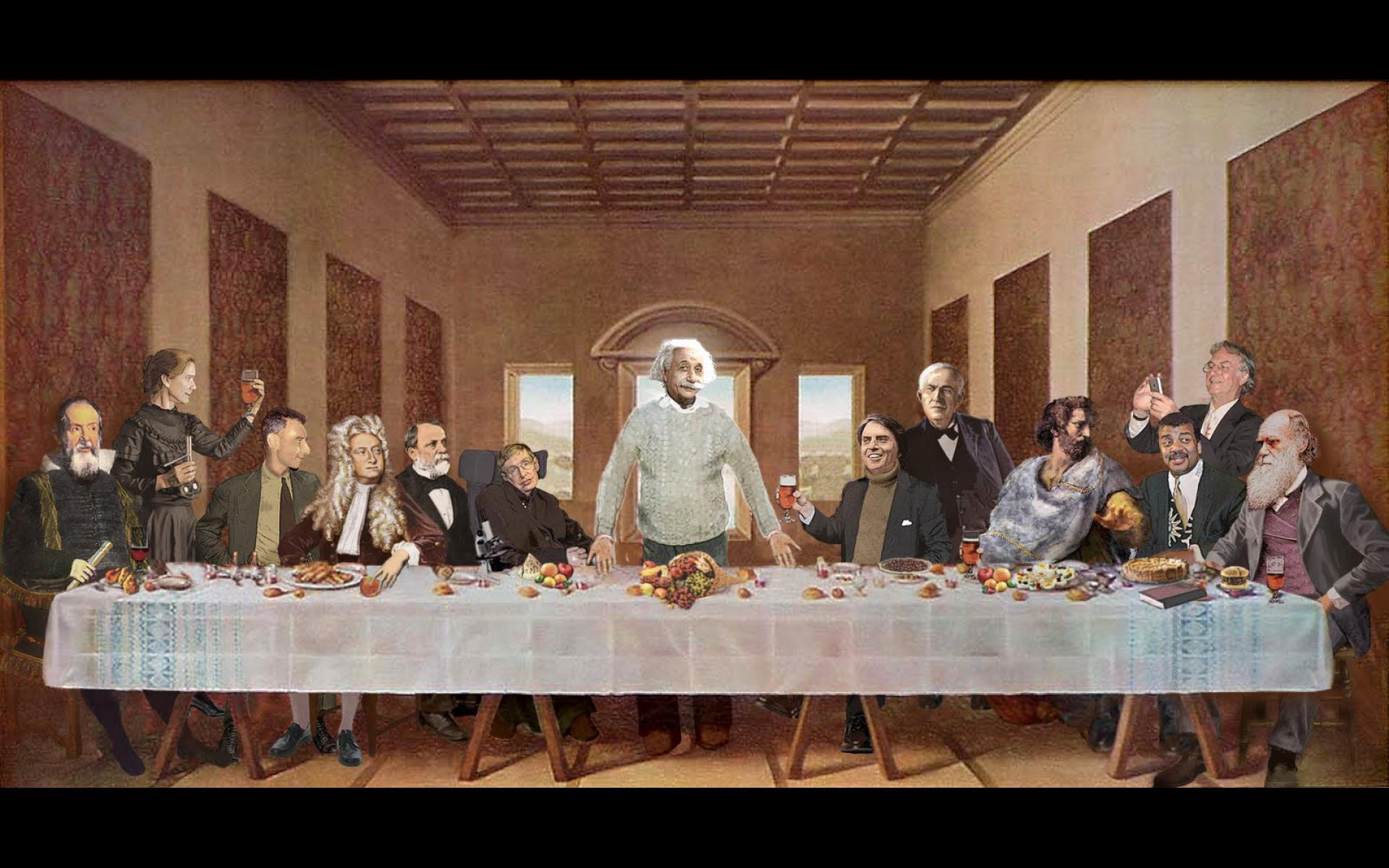 last supper scientists    Physics Wallpaper 31669992 1920x1200