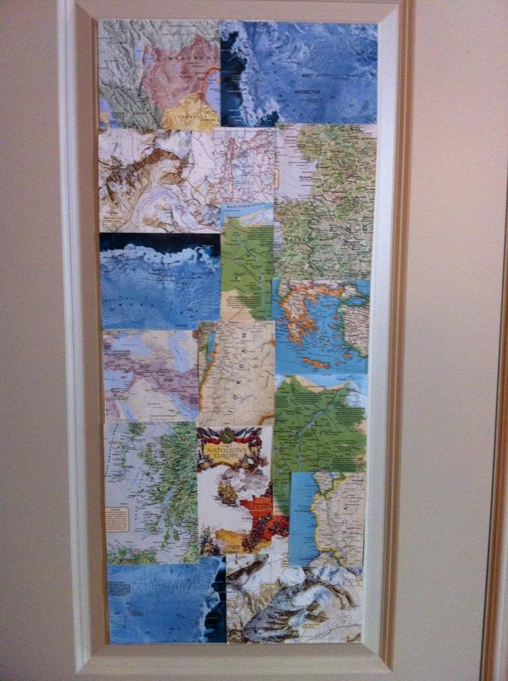 Wallpaper using sections of old map Home DecorCraft Ideas Pint 716x960