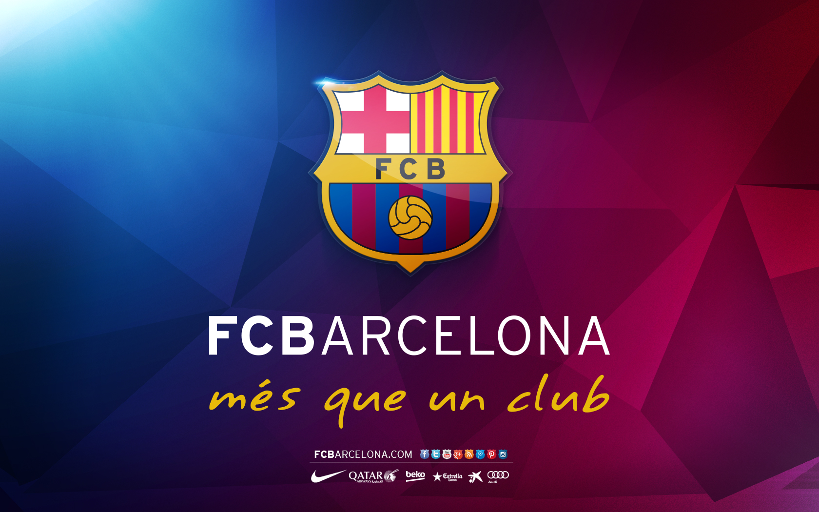 Download 1680x1050 FC Barcelona mes que un club Logo 1680x1050