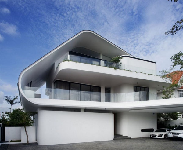 Modern Home Exterior Wallpapers The Art Mad Wallpapers 600x491