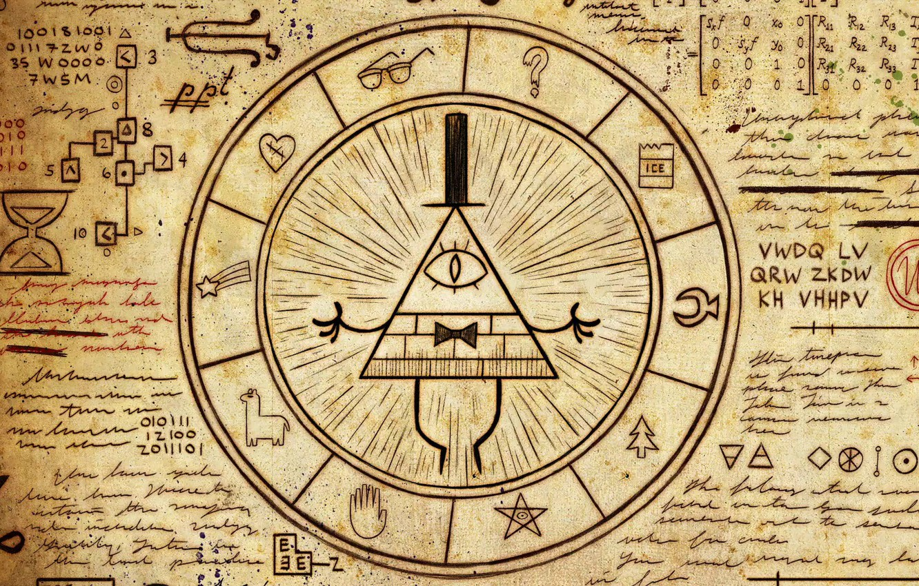 Wallpaper diary Gravity Falls Bill Cipher images for desktop 1332x850