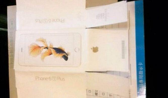 Apple iPhone 6s Plus box goldfish wallpaper 667x390