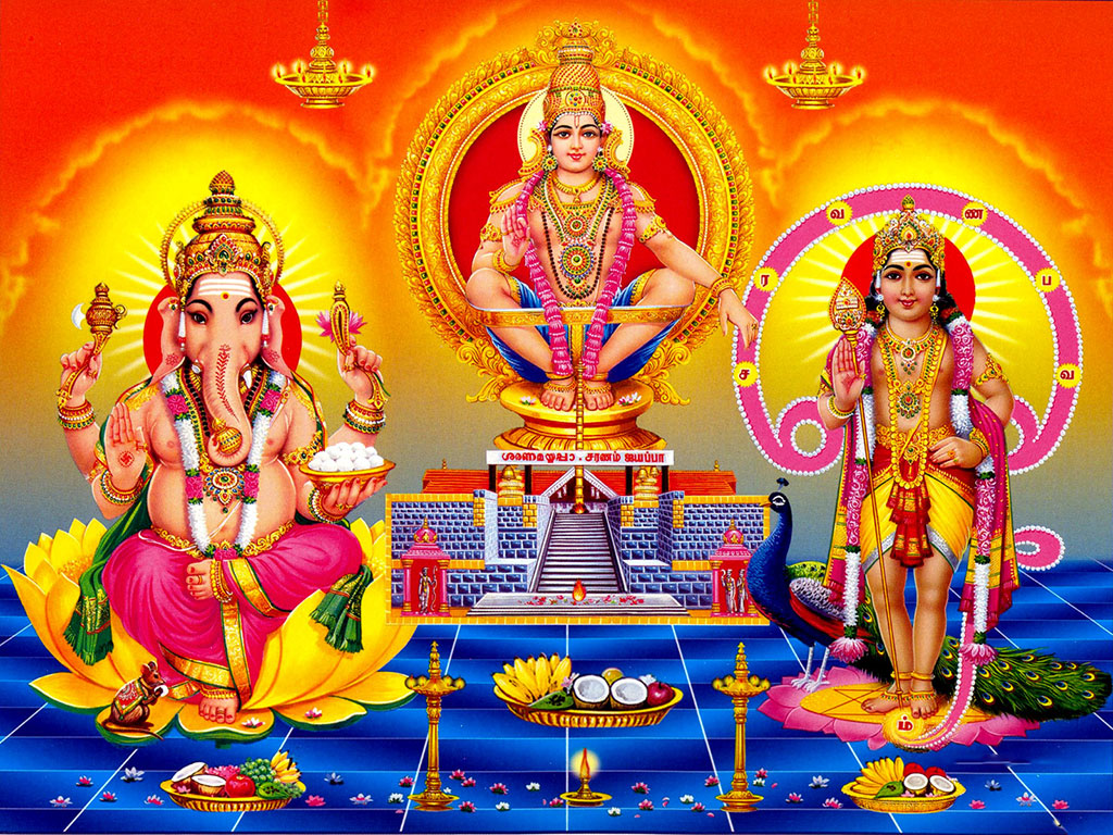 Lord Ayyappa Ganesha   Full HD Wallpaper for Desktop Mobile Android 1024x768