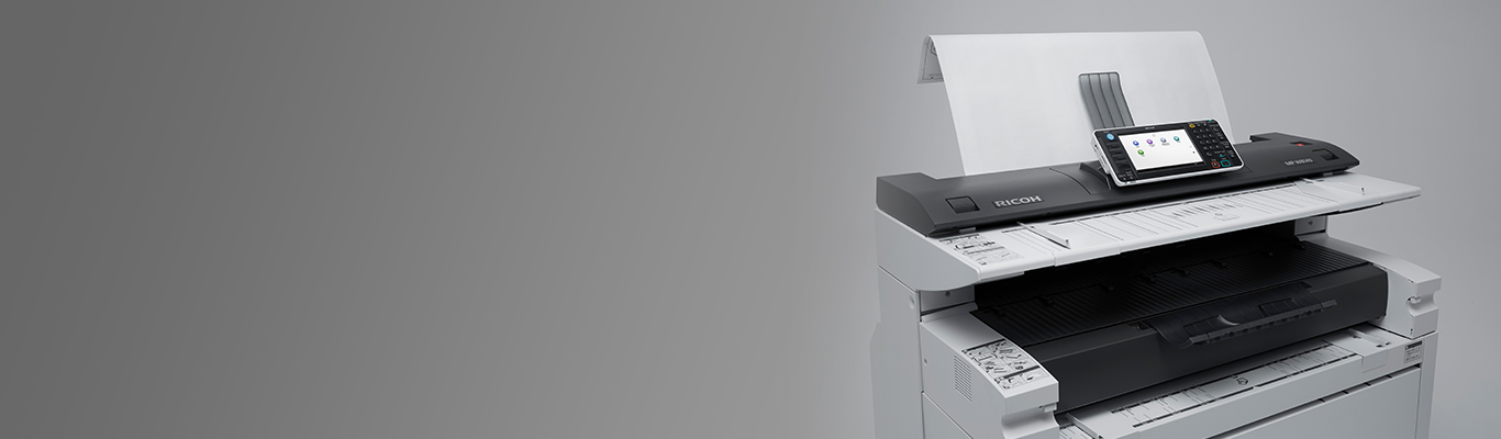 MP W7100MP W8140 Wide Format Black White Printer Ricoh USA 1366x400
