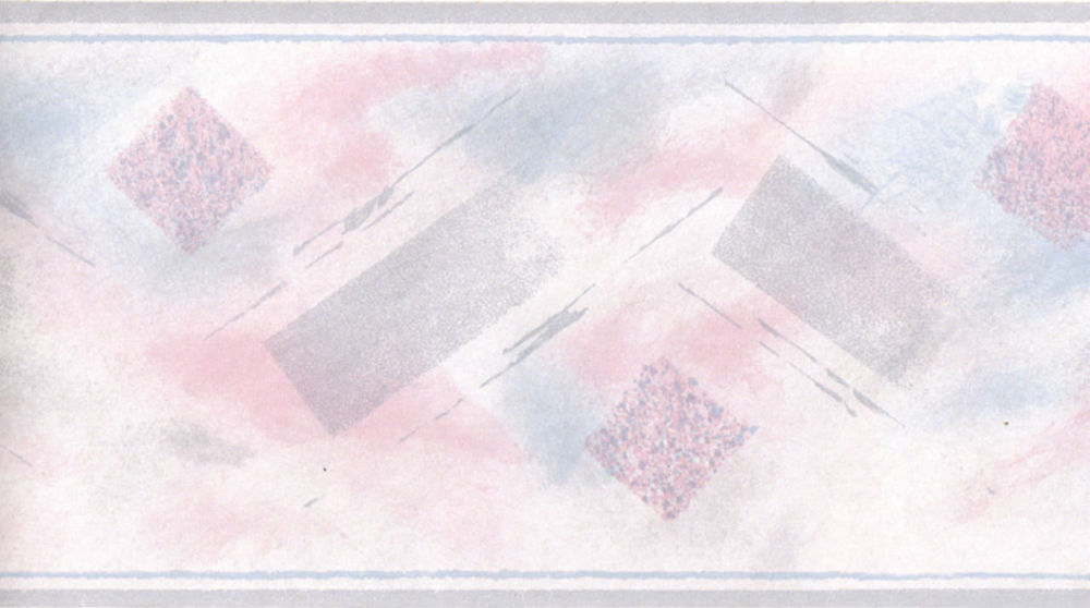 Geometric Abstract Modern Pink Grey Blue Wall Paper Border eBay 1000x558