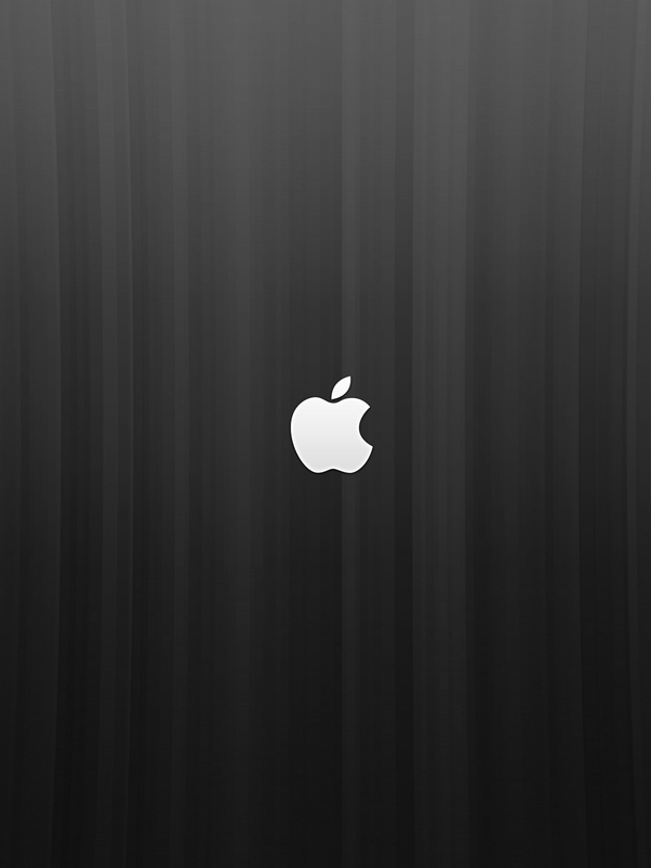 Download Apple logo on a blue background screensaver for Amazon Kindle 600x800