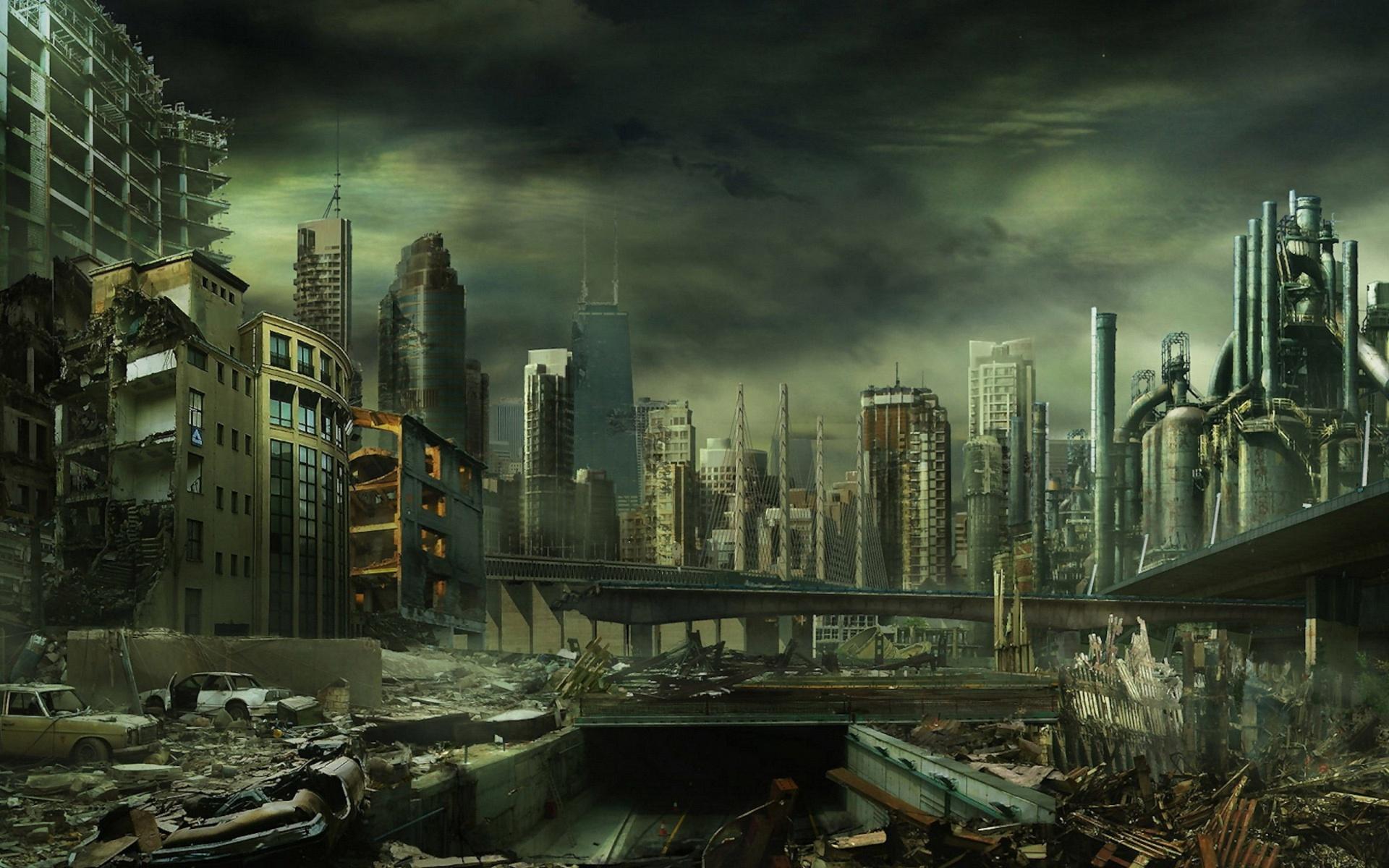 Destroyed City Wallpaper   1920x1200 1920x1200