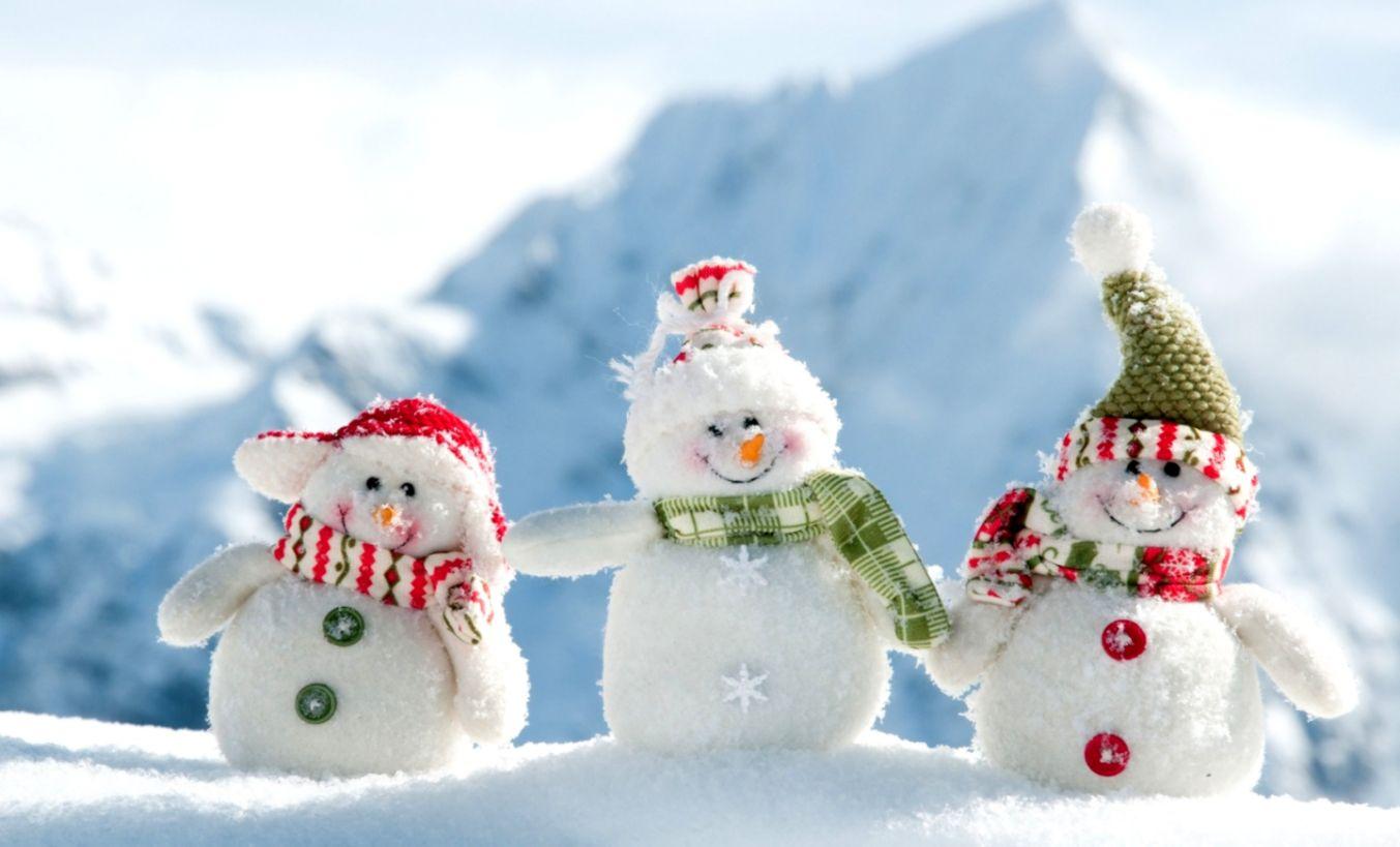 Snowman Wallpaper Wallpapers Base 1353x819