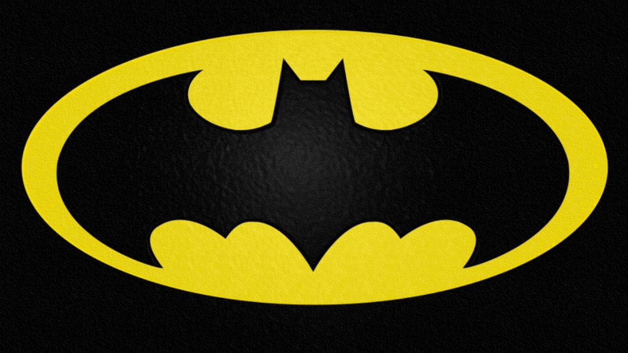 batman logo trademark symbol wallpaper background yellow black img 1280x720
