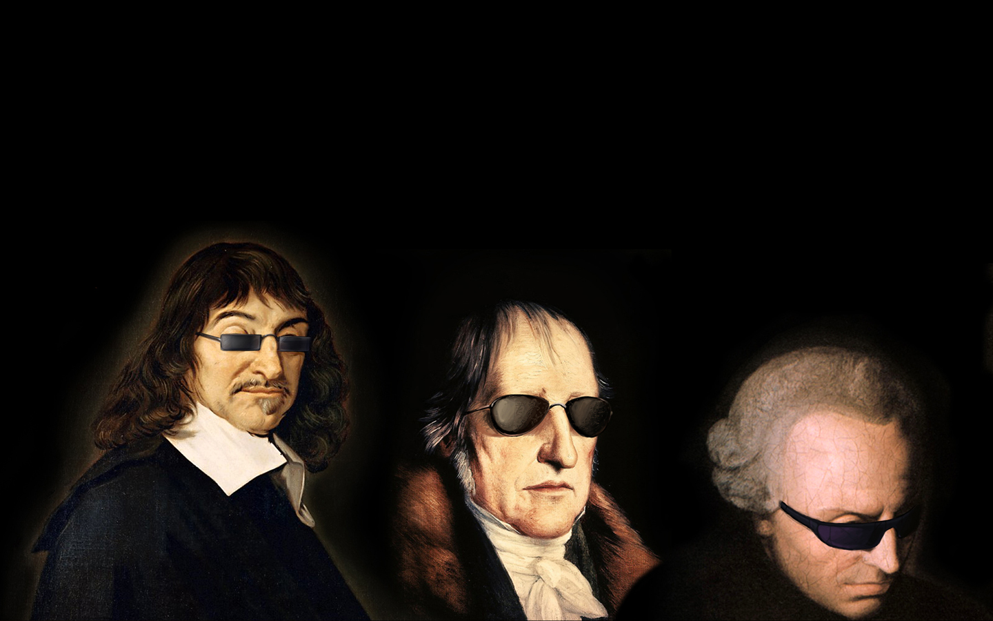 Cool Philosophers Descartes Kant And Hegel With Sunglasses 1440x900