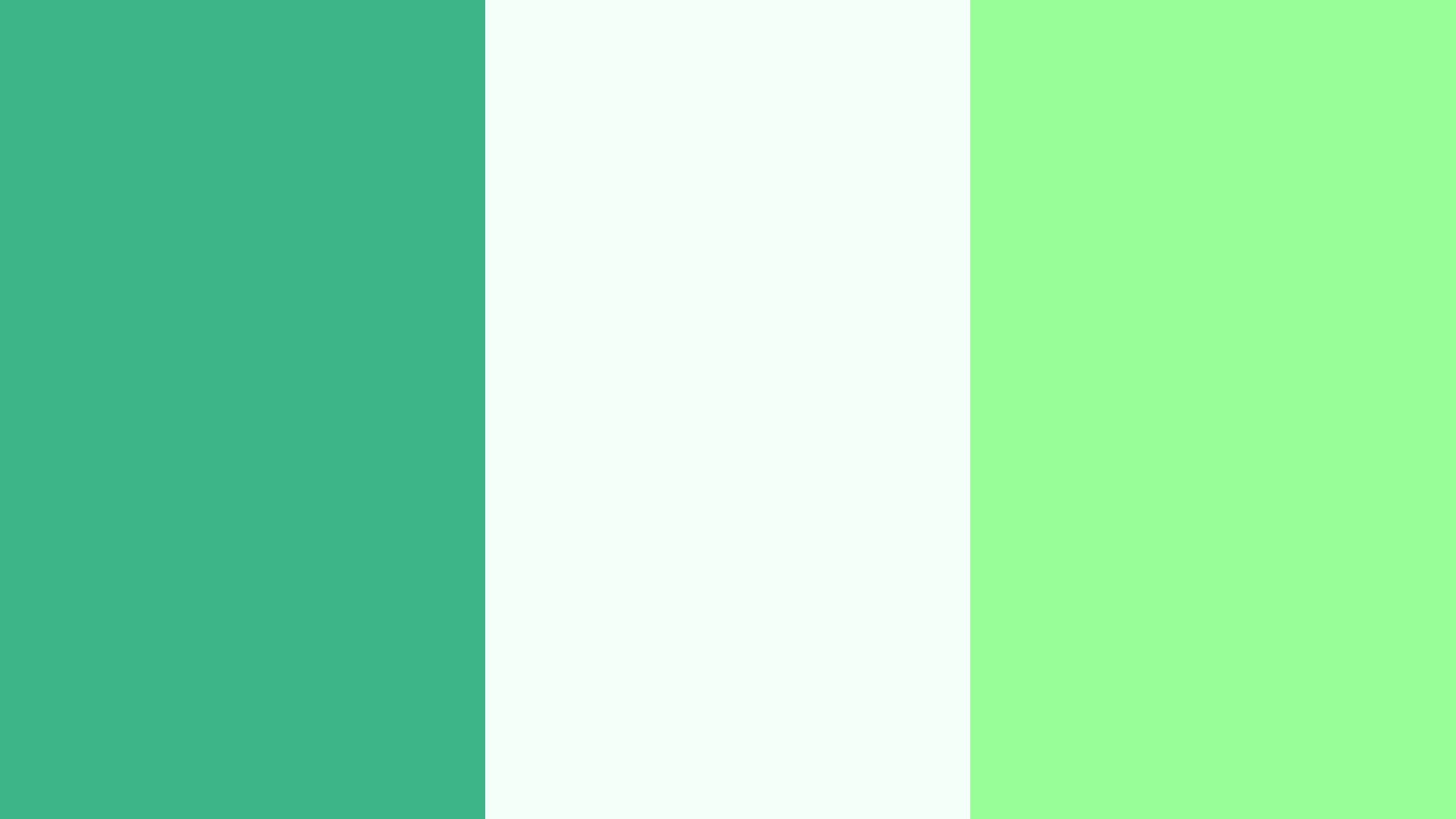 2560x1440 Mint Mint Cream and Mint Green Three Color Background 2560x1440