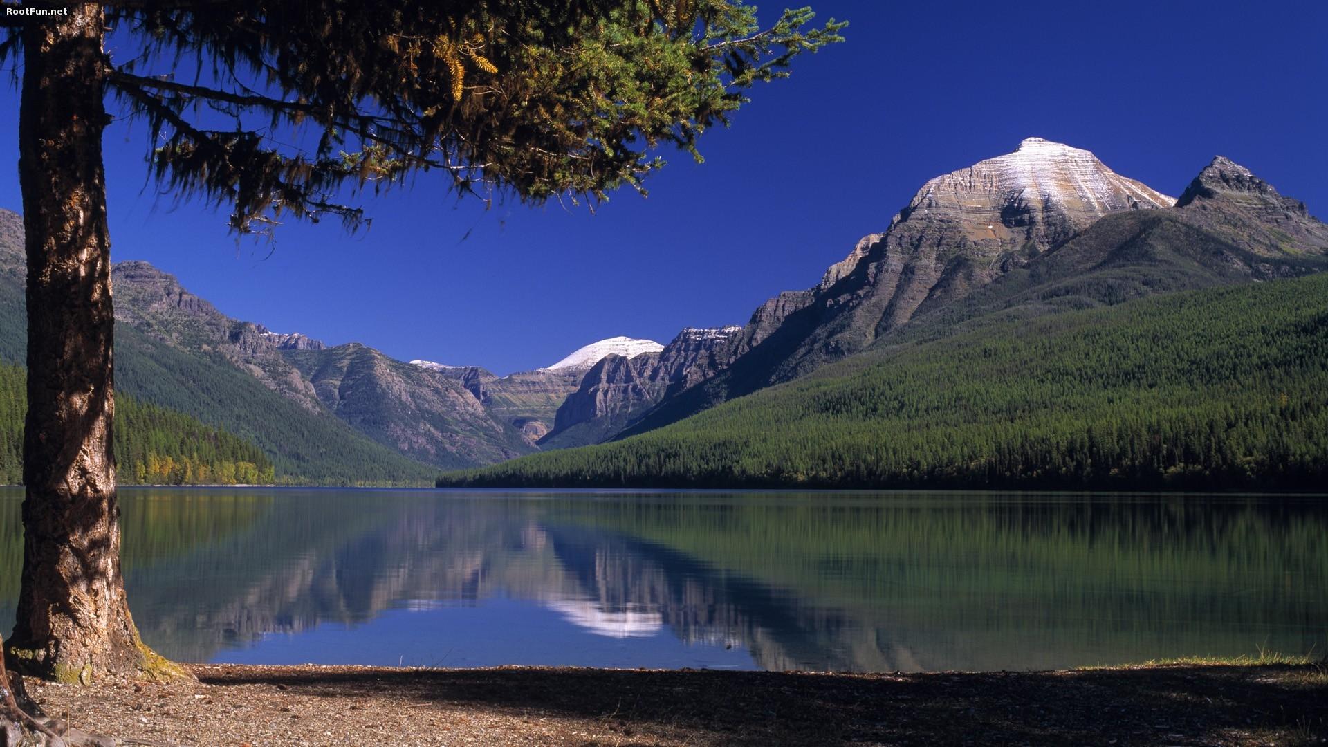 Небо горы озеро  № 2789974  скачать