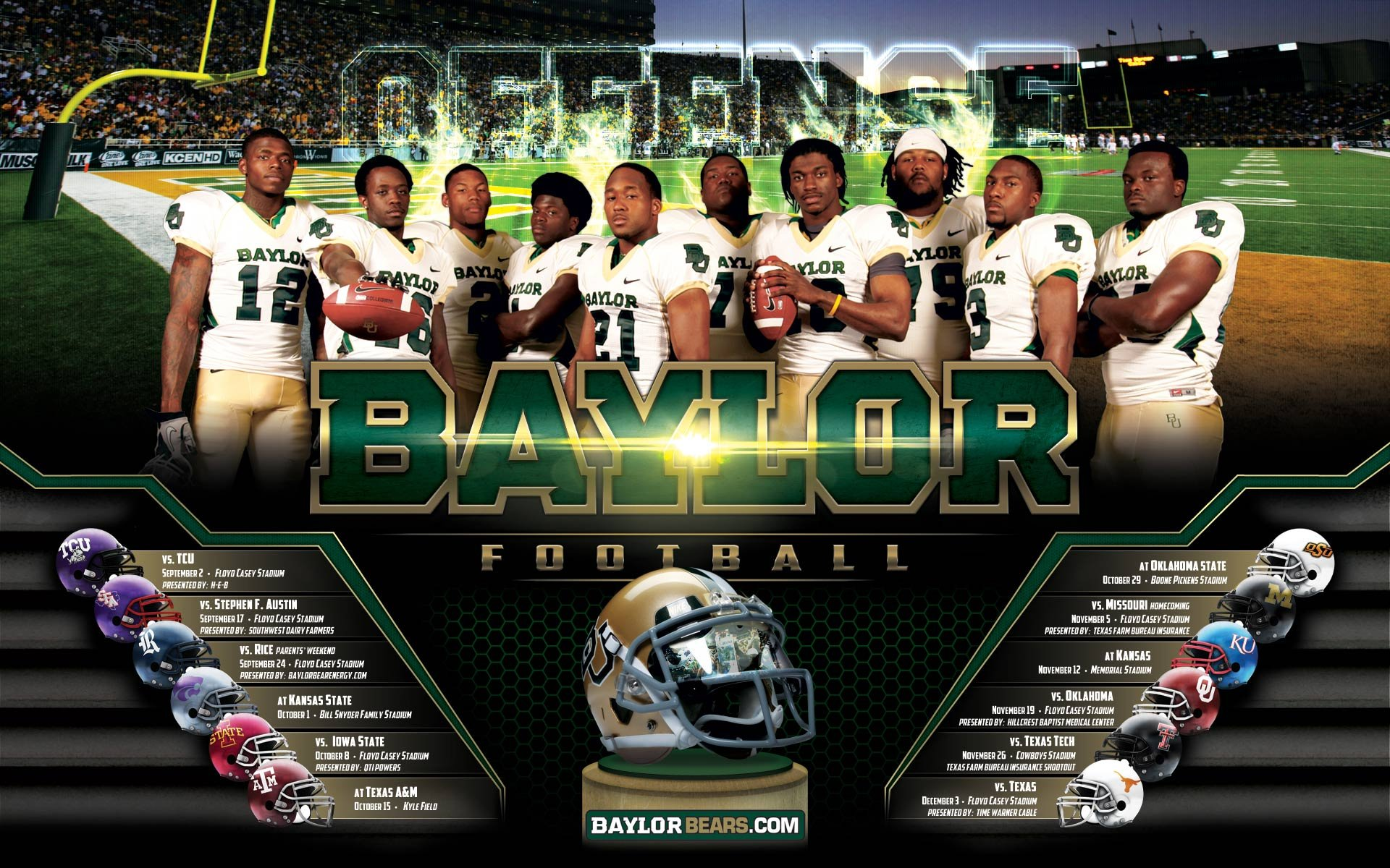 BAYLOR BEARS college football wallpaper 1920x1200 1920x1200