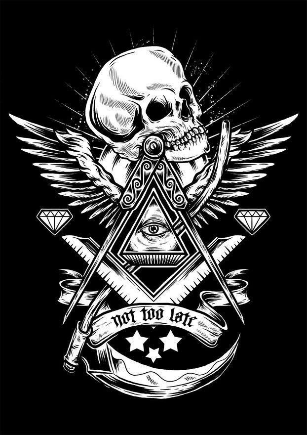 freemason by demigodstudio Masonic tattoos Masonic symbols 622x880