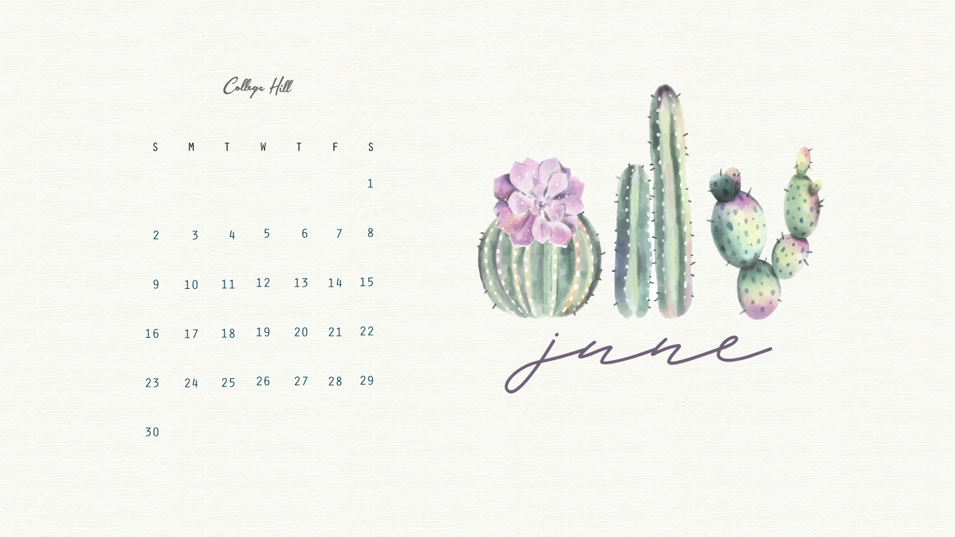 Our June Wallpaper is Here 1366x768