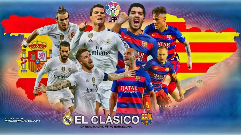 Name Real Madrid vs FC Barcelona 2015 2016 El Clasico HD Wallpaper 800x448