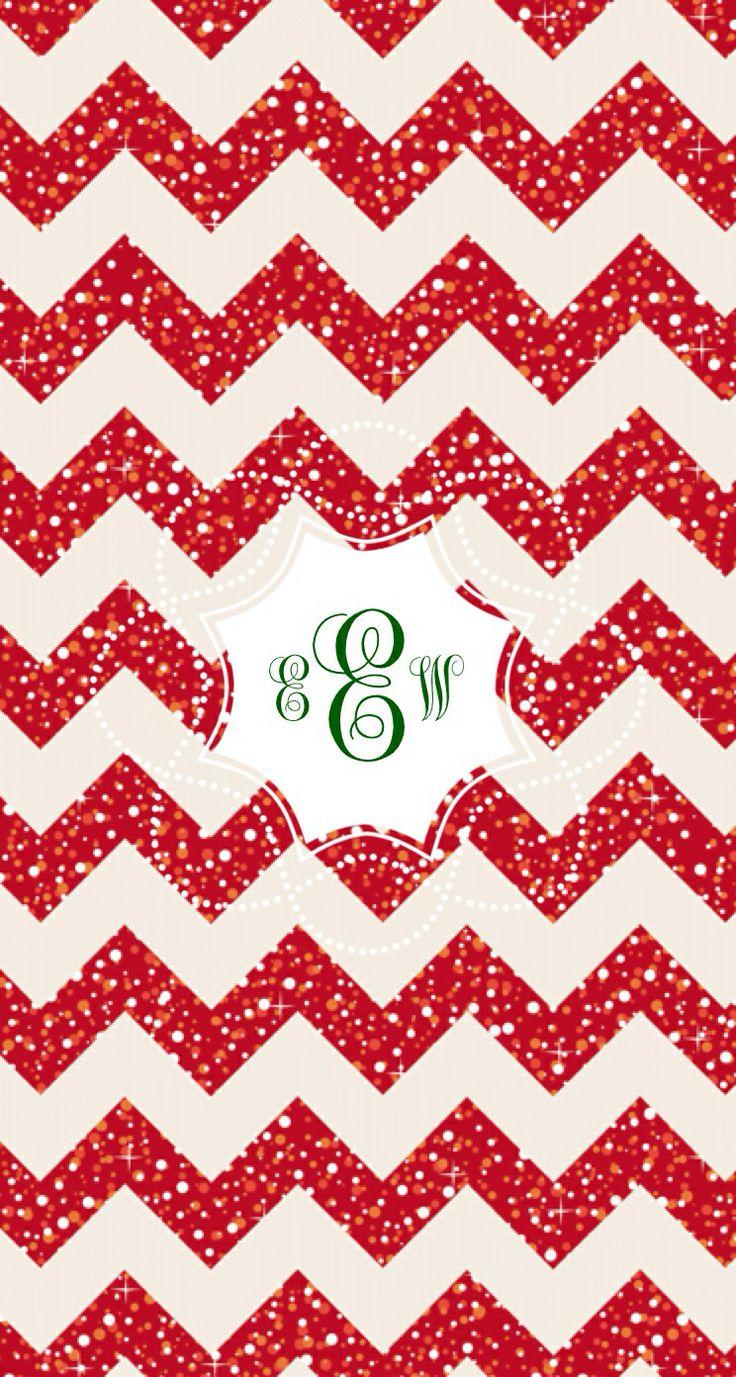 Holiday phone wallpaper monogram app Monogram Pinterest 736x1377