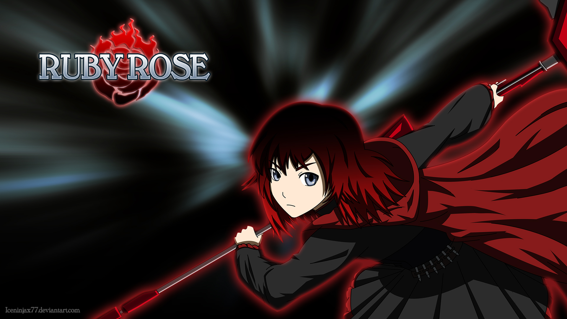 RWBY   Ruby Rose Mystic Arte by IceNinjaX77 1920x1080