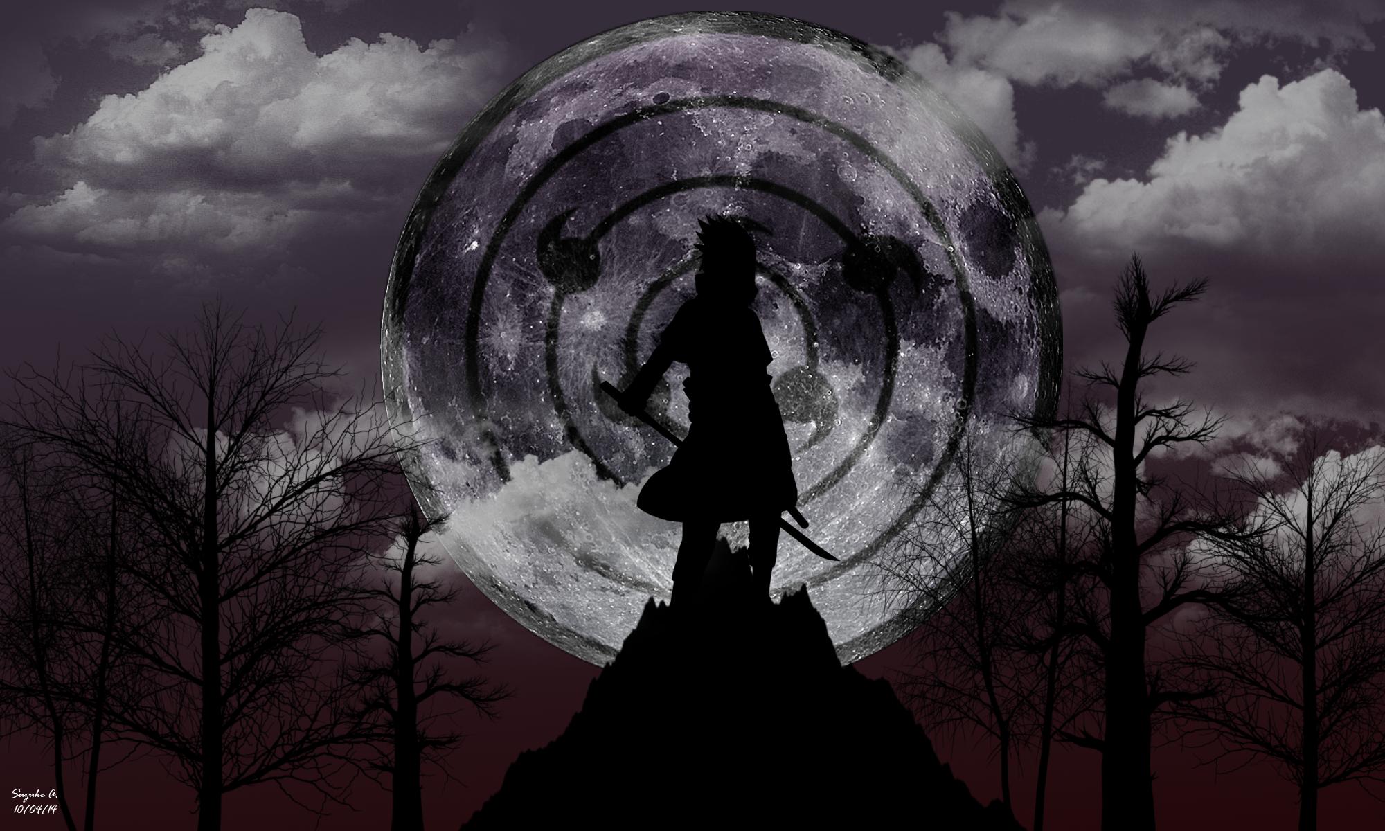 Sasuke Uchiha Rinnegan [Moon Eye] Wallpaper by SuzukeAmaterasu on 2000x1200