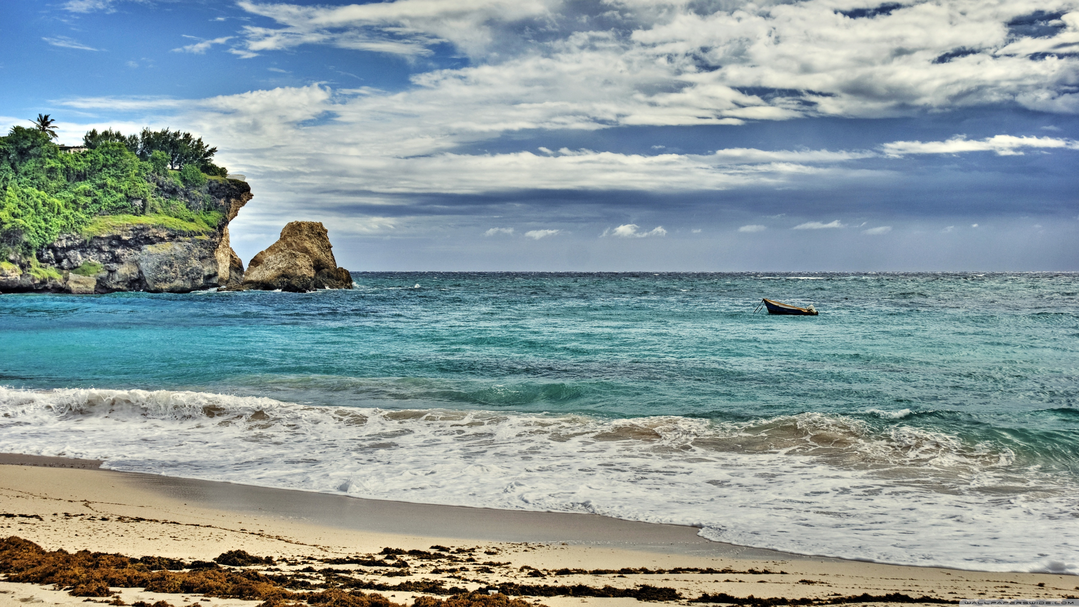Barbados 4K HD Desktop Wallpaper for Dual Monitor Desktops 3554x1999