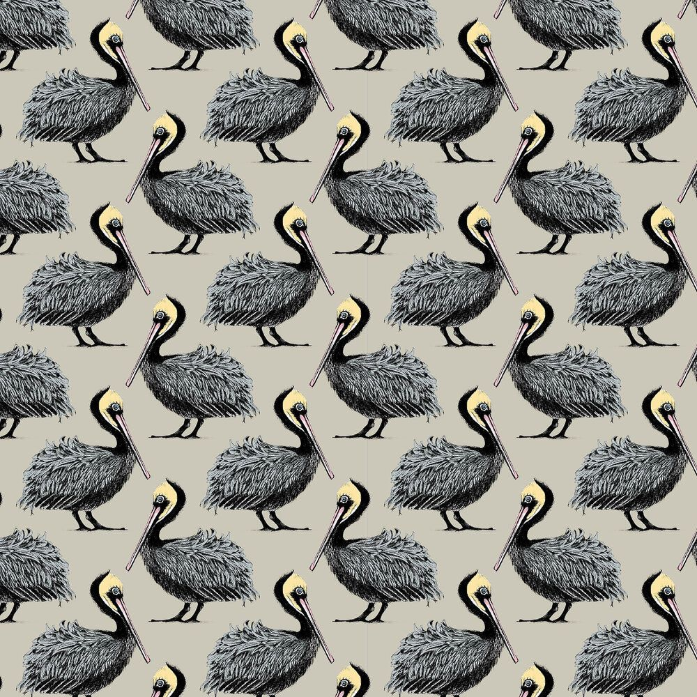 Pelican by Petronella Hall   Taupe   Wallpaper Wallpaper Direct 1000x1000