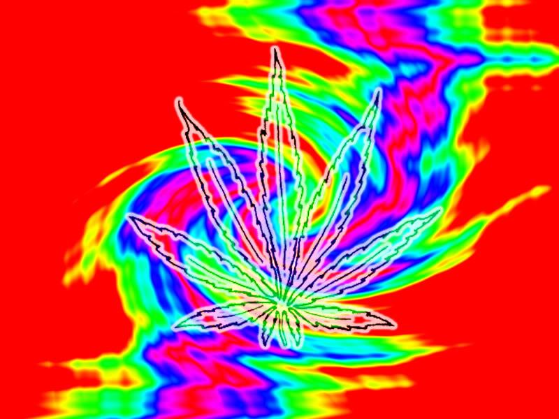 Trippy Pot Leaf Wallpaper WallpaperSafari