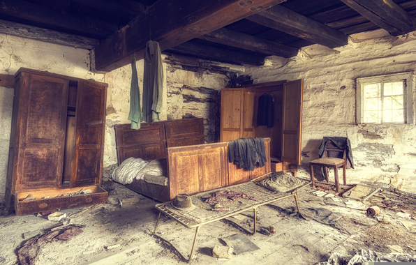 Wallpaper ye old farm bathroom desolation wallpapers interior 596x380