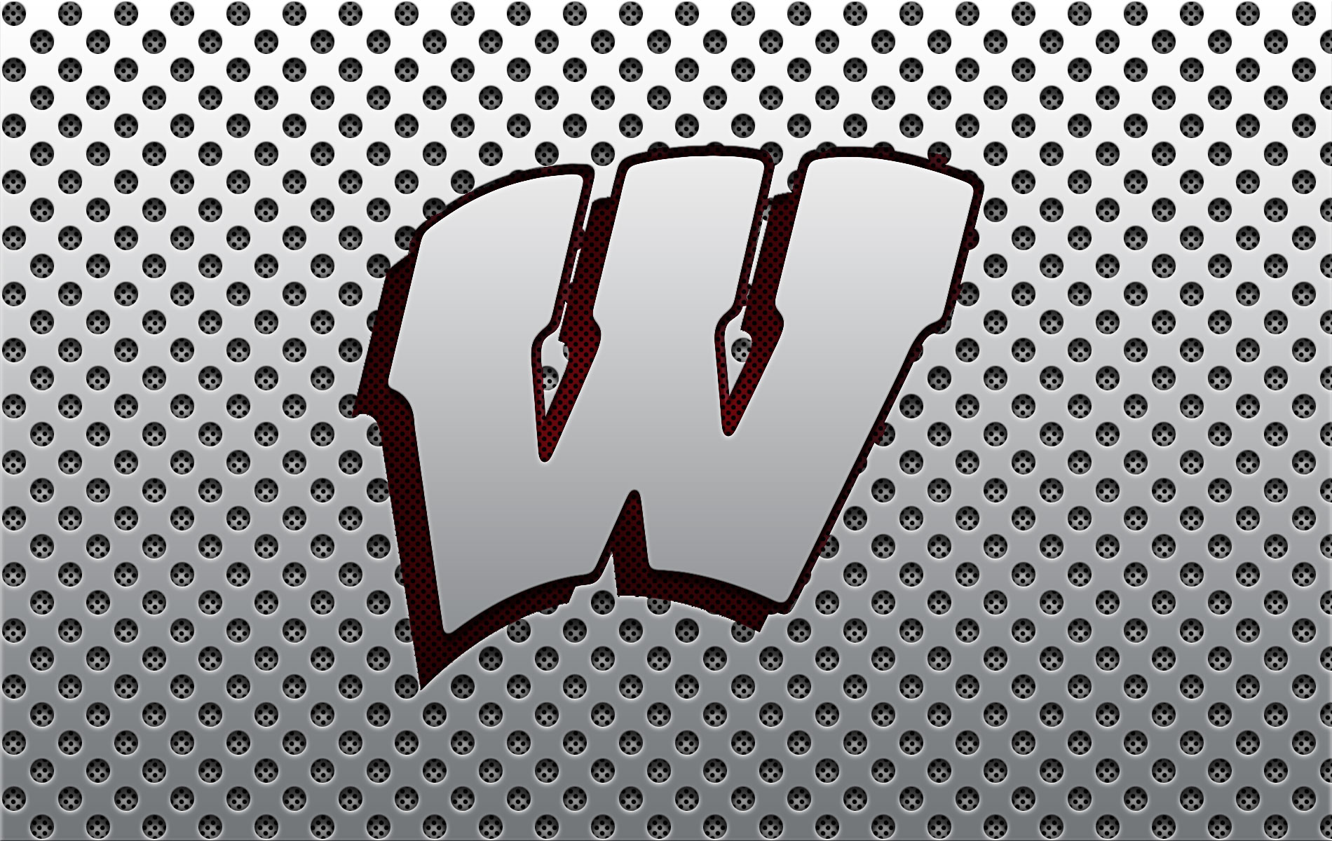 Wisconsin Badger Logo Wallpaper 365 Days of Design 1900x1200