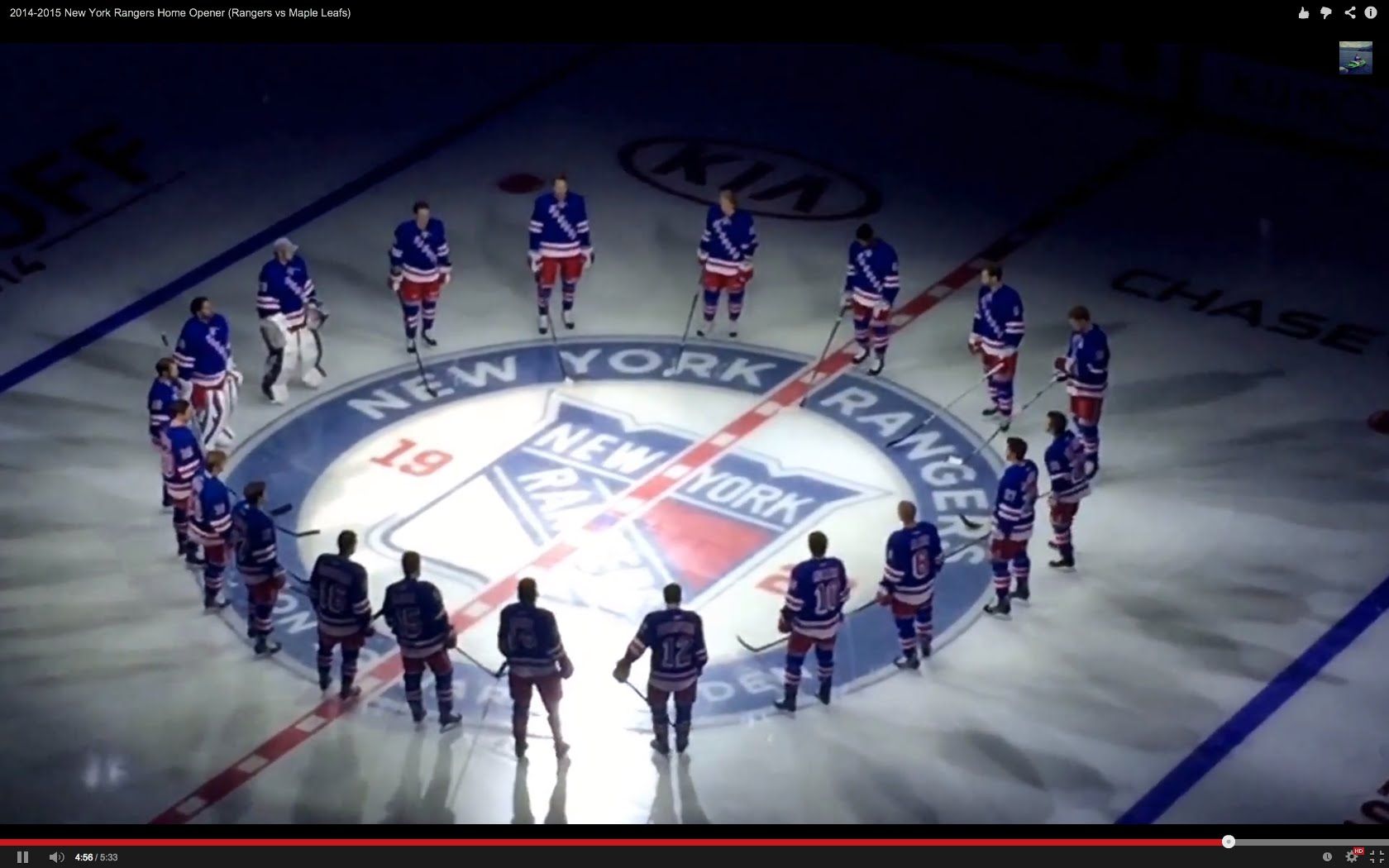 2014 2015 New York Rangers Home Opener 1680x1050