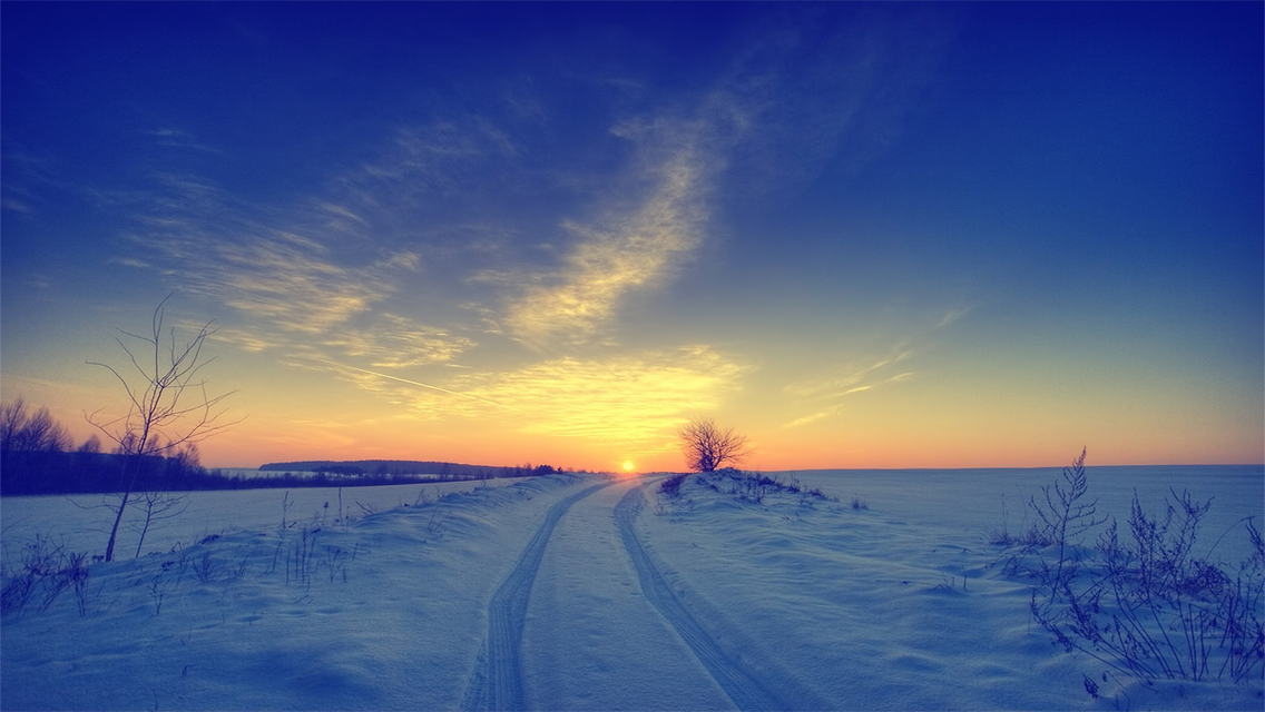 Download Winter Sunset HD Wallpapers for iPhone 5 HD Wallpapers 1136x640