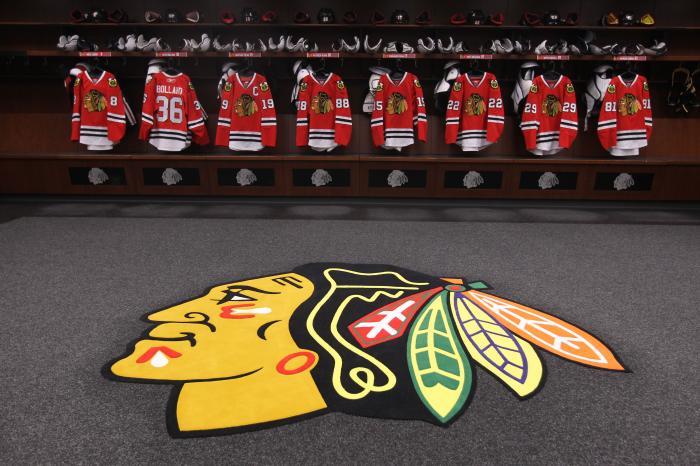 chicago blackhawks locker room wallpaper 700x466