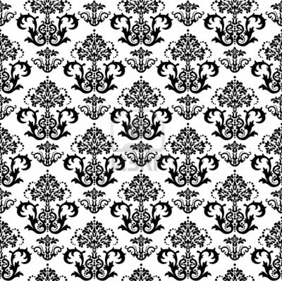 Black And Gold Damask Wallpaper Seamless black and white 1200x1197