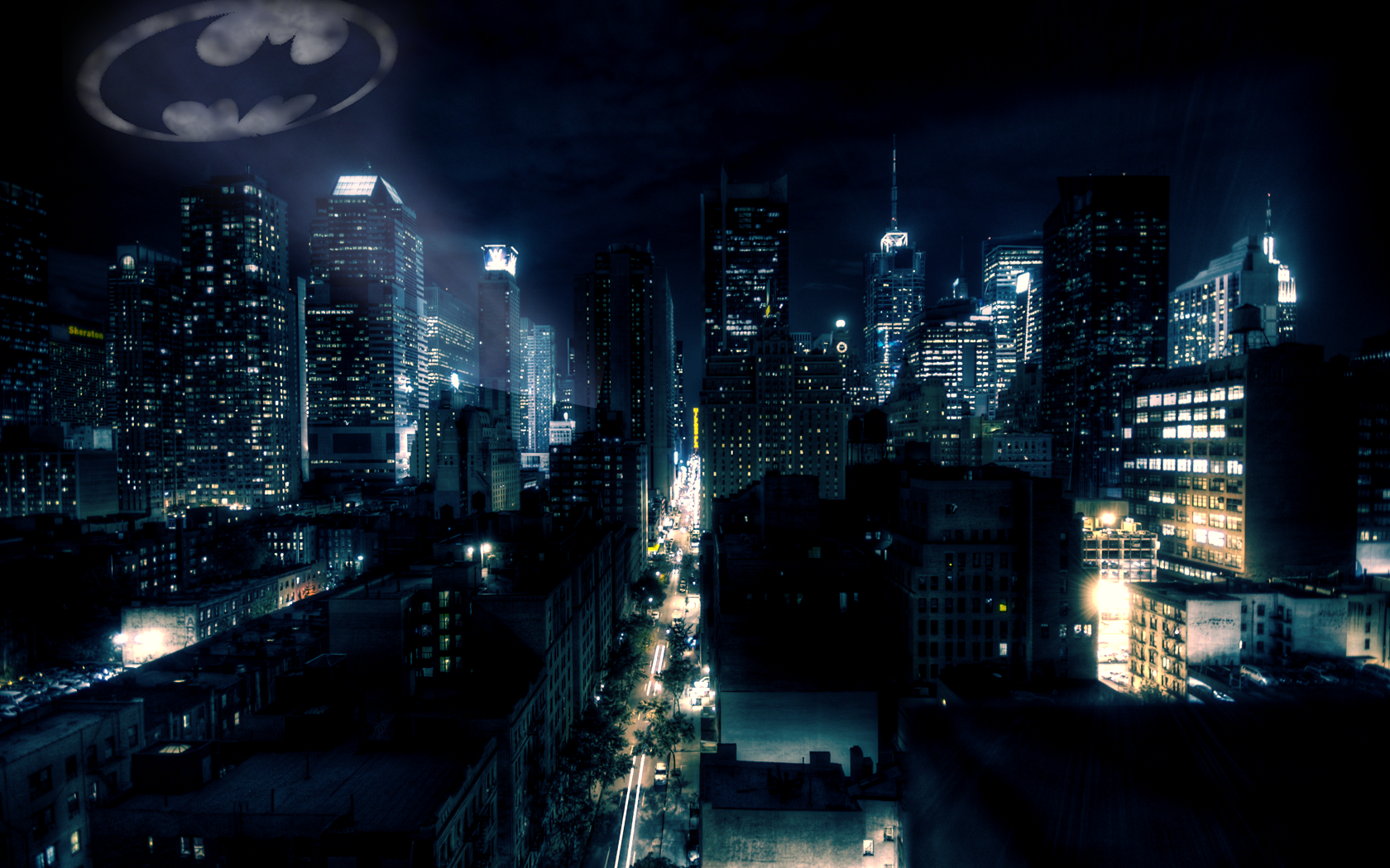 42] Gotham City Wallpaper on WallpaperSafari 1680x1050