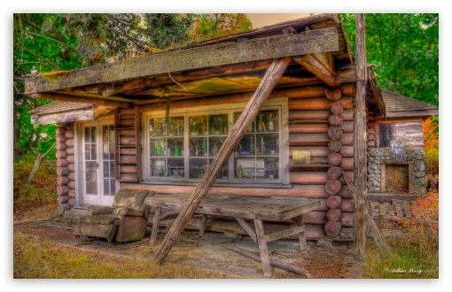 Tiny The Little Log Cabin HD wallpaper for Wide 1610 53 Widescreen 510x330