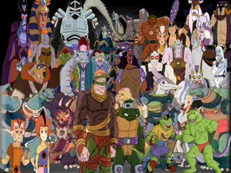 80s Cartoons Wallpaper 80s cartoon hero and villians 800x600