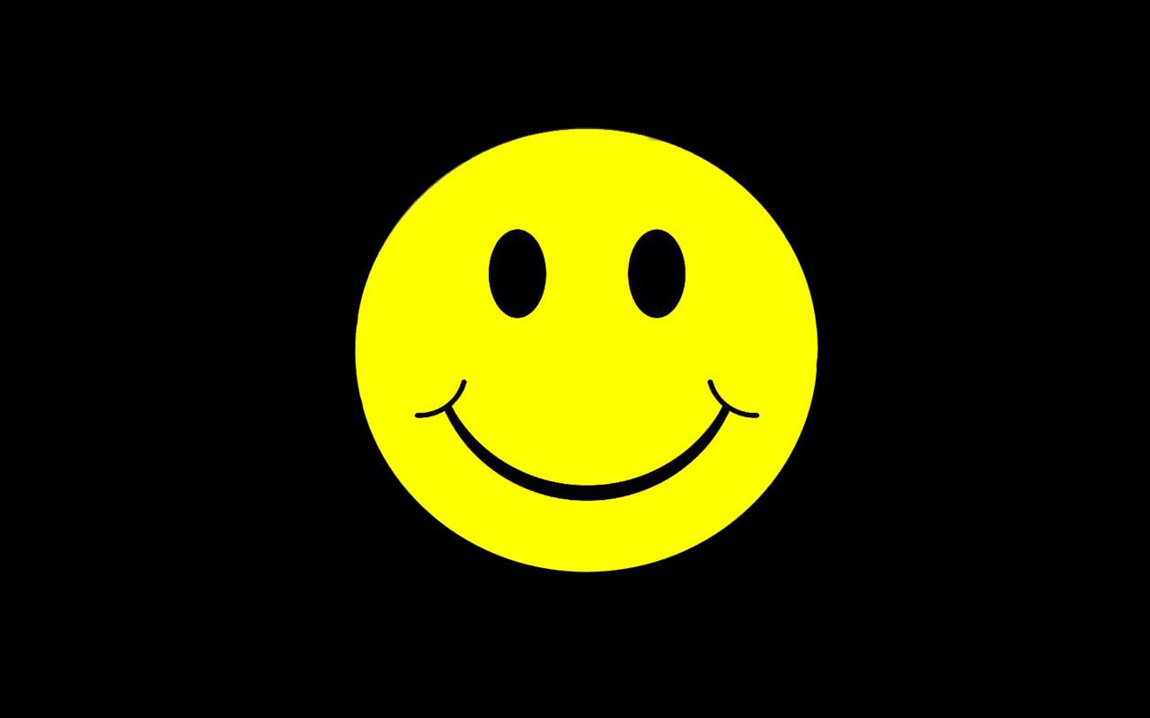 Happy Smiley Wallpaper 1280x800 Happy Smiley Face Faces Black 1280x800