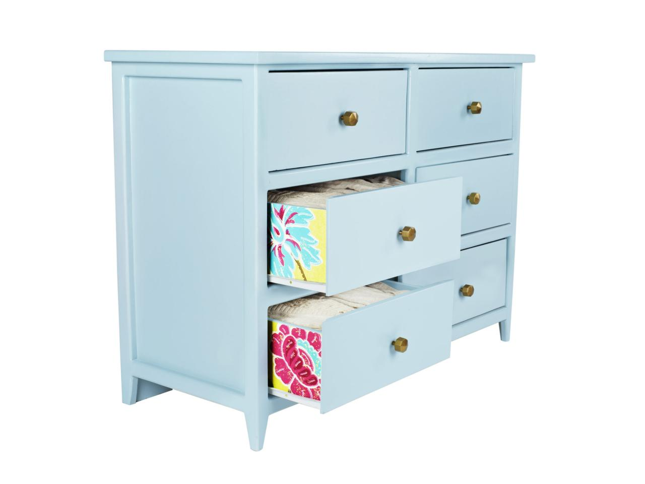 How to Wallpaper Interior Dresser Drawers HGTV 1280x960