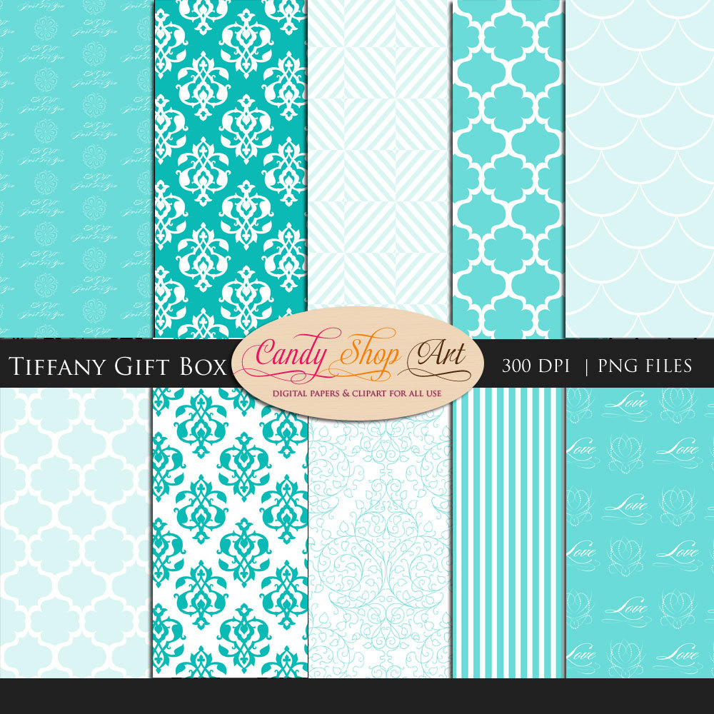 tiffany and co box color instant download tiffany gift - Tiffany And Co Color Code