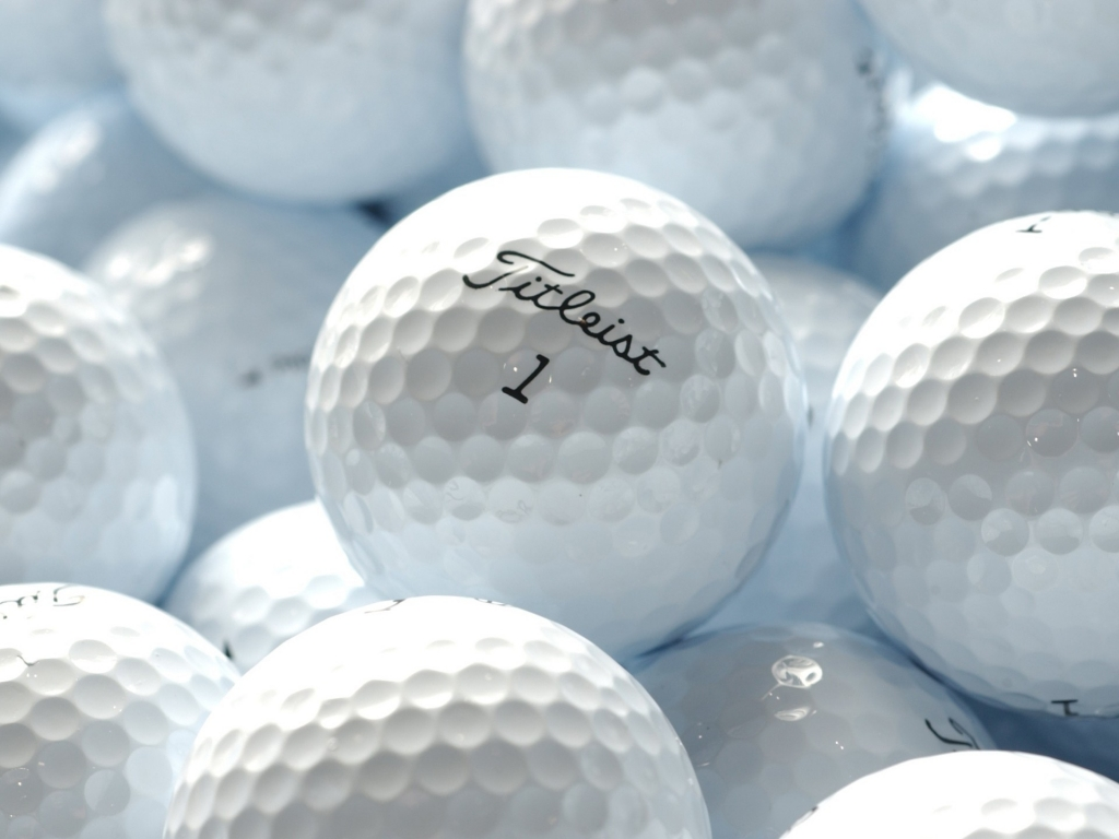 White Titleist Golf Balls HD Desktop Mobile Wallpaper Background 1024x768